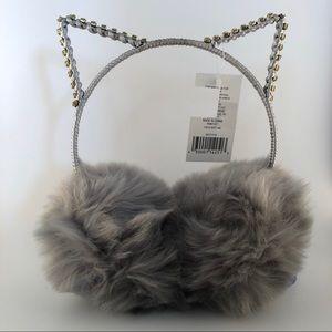 Girls Plush Faux Fur Cat Earmuffs